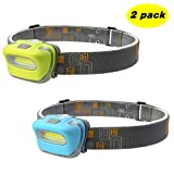 Blinkle Headlamp LED Headlamps 165 Lumen Brightest AAA Battery Powered Lightweight with 3 Modes Waterproof for Biking...