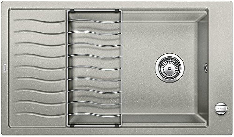 Weiß Elon XL 8 S, Küchenspüle, Granitspüle aus Silgranit PuraDur, 1 Stück, perlgrau, 520487