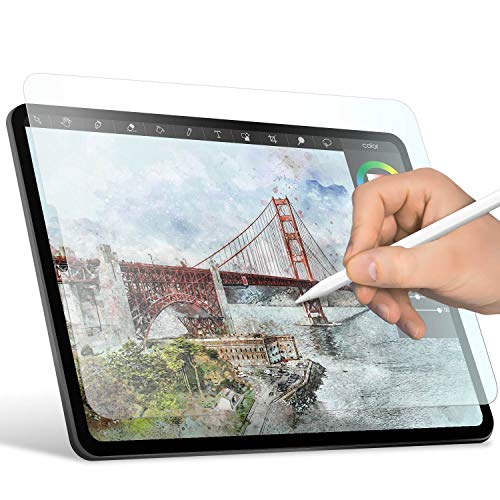 ELECOM-Japan Brand- Paper-Feel Screen Protector Compatible with iPad Pro 11 inch (2018) / Drawing, Anti Glare, Scratch Resistant/Smooth Type, TB-A18MFLAPLL-W