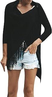 De Moda Baggy Cardigan Coat Tassel Punto BotóN Chal Irregular Blusa Blanca OtoñO Chaqueta Abrigos Mujer Invierno Rebajas