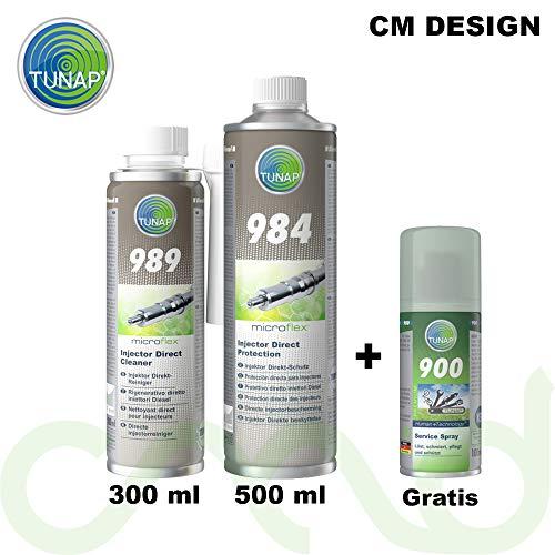 TUNAP Kit 989 984 - Kit additivi Completo rigenerante per la Pulizia del Sistema di iniezione Diesel