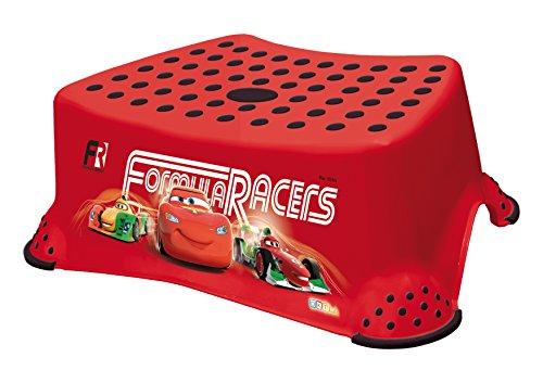 OKT Kids 18431401085 - Sgabello antiscivolo per bambini, motivo: Cars, colore: Rosso