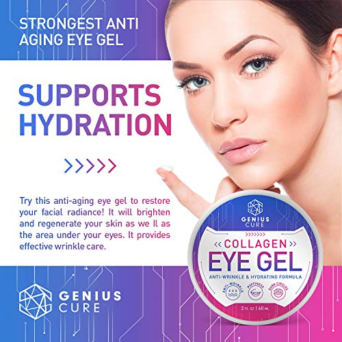 51OUqK4G2OL - Collagen Eye Gel, Under Eye Gel Treatment for Reducing Dark Circles, Moisturizing, Targets Wrinkles Anti-Aging, Fine Lines, Eye Bags, Puffiness for Women Men 2oz