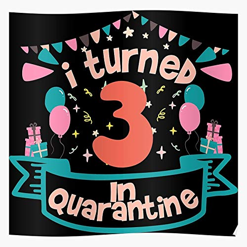 Old 3Rd Celebration Girl 3 Year 3Th Boy Quarantined Birthday Ideas Quarantine Funny I Fsgteam- Impressive and Trendy Poster Print decor Wall or Desk Mount Options