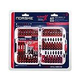 Norske Tools NIBPI708 40-Piece Impact Torsion Screwdriver Bit Set