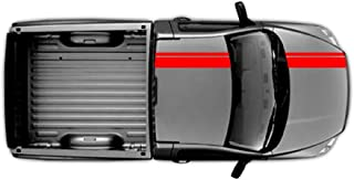 Clausen's World 2 and 6 Inch Double Offset Vinyl Rally Racing Stripes, Fits Dodge Ram Pickup Truck, Red