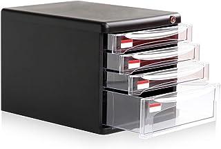 Armoire de Classement Verrouillables bureau Classeur en plastique de bureau de stockage des données armoire à tiroirs 4 co...