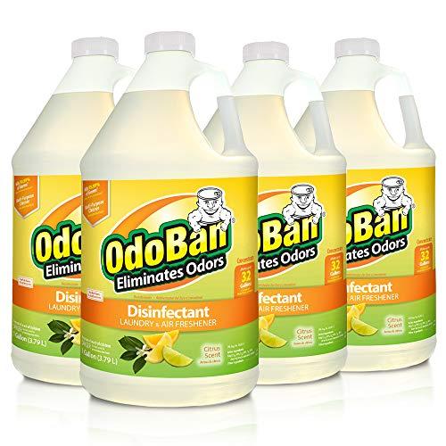 OdoBan Multipurpose Cleaner Concentrate, 4 Gallons, Citrus Scent - Odor Eliminator, Disinfectant, Flood Fire Water Damage Restoration