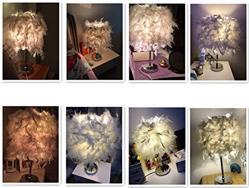 Lampe de table de chevet Lampes de nuit Crystal Li Lampe de plume, lampe de table blanc, enfants à côté lampe de lit, Chambre Maison Salle à manger Décoration Lumière for fille, lampe Cloud (M)