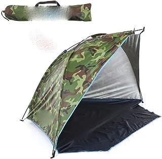 Ultralätt vattentätt campingtält enkelt lager bärbart tält anti-UV beläggning UPF 30+ för utomhus strand fiske fint nät dö...
