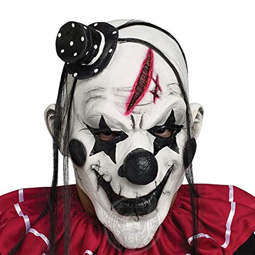 Amazing Deal YYH Devil Clown Latex Mask Horror Scary Funny Mask Halloween Festive Props