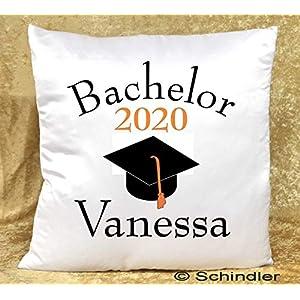 Kissen bedruckt – Dekokissen – Studentengeschenke – Motiv 1″Bachelor 2020″ mit Wunschnamen