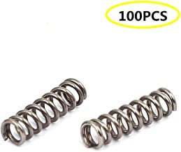 Liberty,0.5mmx3mmx10mm 304 Stainless Steel Compression Springs Silver Tone 100pcs
