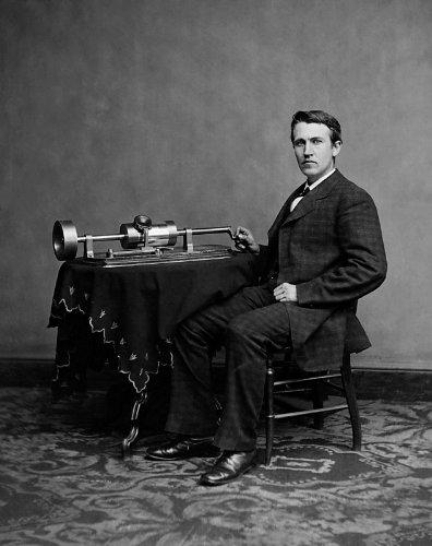 Thomas Edison Phonograph Poster Photo USA Historical Posters Photos 11x14