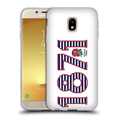 Head Case Designs Official England Rugby Union 1871 Paisaje 2016/17 La Rosa Carcasa de Gel de Silicona Compatible con Samsung Galaxy J3 (2017)
