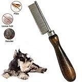 AIDIYA Peine antipulgas para Mascotas, Eliminar pulgas y piojos y Suciedad en Tus Mascotas, Gatos y Perros, eliminador de Insectos