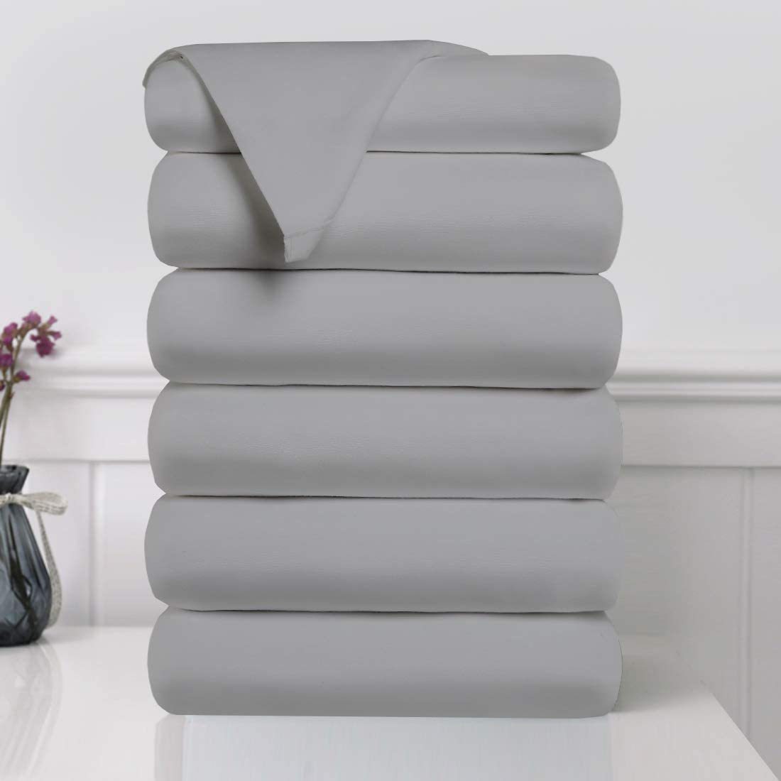 EDILLY Bed Flat Sheets 6 Pack Brushed Size Super Soft 売買 新作 人気 Queen Mi