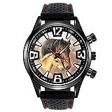 Timest - Caballo con el Potro - Reloj para Hombre con Correa de Silicona Negro Analógico Cuarzo CSF040
