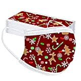 Barkoiesy 20 Stück Kinder Mundschutz Einweg Weihnachten Bunt 3 Lagig Mund und Nasenschutz Staubdichte Atmungsaktive Bedeckung Multifunktionstuch Halstuch