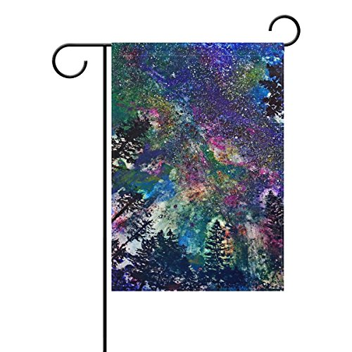Bennigiry Art peintures décoratives Bienvenue coloré mulitcolor lumineux mignon Jardin Drapeau, Polyester filé, multicolore, 28x40(in)
