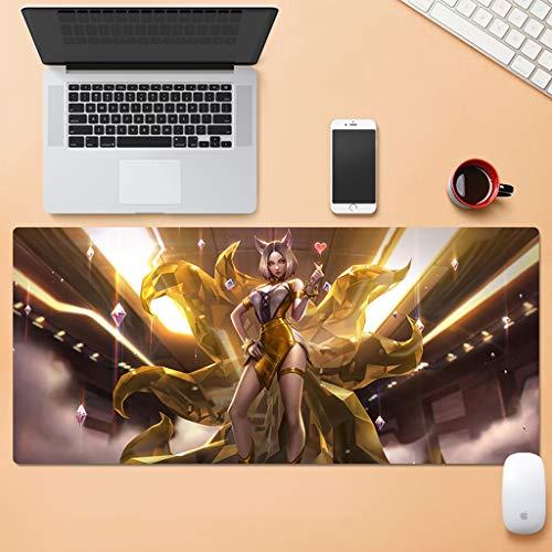 SJJOZZ Mausunterlage Übergroße Mausunterlage Dicke Tastaturunterlage Tischset Gummibekleidung Computertastaturunterlage Büro Notebook Mausunterlage (Color : A, Size : 3mm)