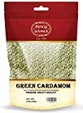 Spicy World Cardamom Pods 3.5oz (100g) - Whole Green Cardamom Pods - Natural Spice, Vegan, Large, Aromatic Cardomon- By Spicy World
