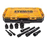 DEWALT Impact Driver Socket Adapter Set, 10-Piece 3/8' & 1/2' Drive Metric (DWMT74741)