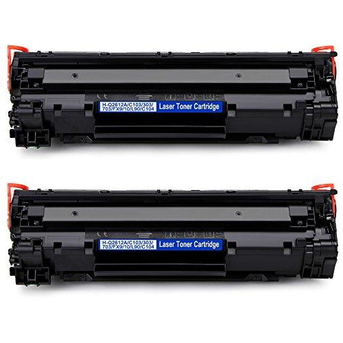 IKONG 12A Q2612A Tóner, 2 Negros para HP LaserJet 1018 1010 1020 ...