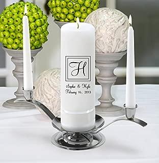 Personalized Wedding Unity Candle - Personalized Unity Candle Set - Elegant