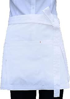 white half bistro apron