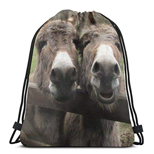 LREFON Turnbeutel Esel Turnbeutel Sportbeutel Rucksack Stofftasche Bag Beutel Customisable 36*42cm