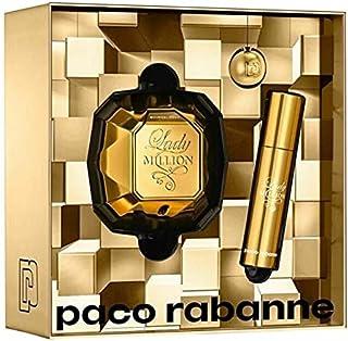 Paco Rabanne Lady Million Eau de Parfum 50ml +10ml Travel Spray+Key Ring Set