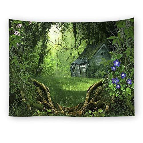Boom landschap mandala tapijt bos muur opknoping wandtapijt schilderachtige gordijn Wall Art Home decor strand mat tafelkleed, 2.150x150cm