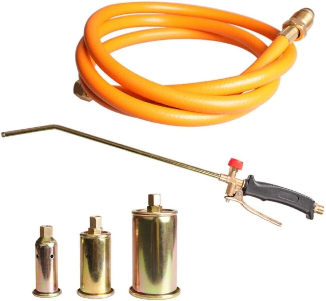 Propane Weed Torch Burner Fire Starter Ice Melter w/ 3 Nozzles