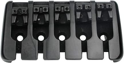 Guyker 5 String Bass Bridge – Zinc Saddle Chunky Bridges Tailpiece Replacement for Jazz Bass - Precision Electric Instruments (Black)