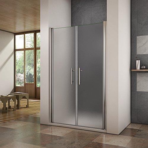 Porte de douche pivotante 120x195 cm en niche verre...