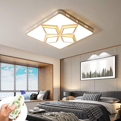 Lámpara de techo LED, lámpara de techo con panel LED cuadrado 48W 3840LM Lámpara de techo moderna 3000k-6000K para sala de estar, dormitorio, oficina, mesa de comedor, pasillo, balcón (48W- blanco)