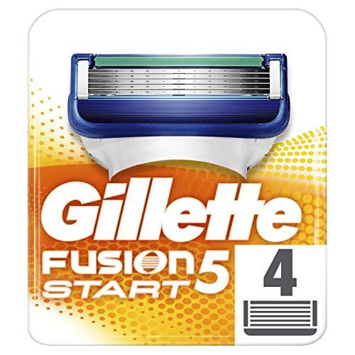 Gillette Fusion 5 Start Rasierklingen mit Feuchtigkeitsstreifen für sanftes Gleiten über die Haut, 4 Ersatzklingen