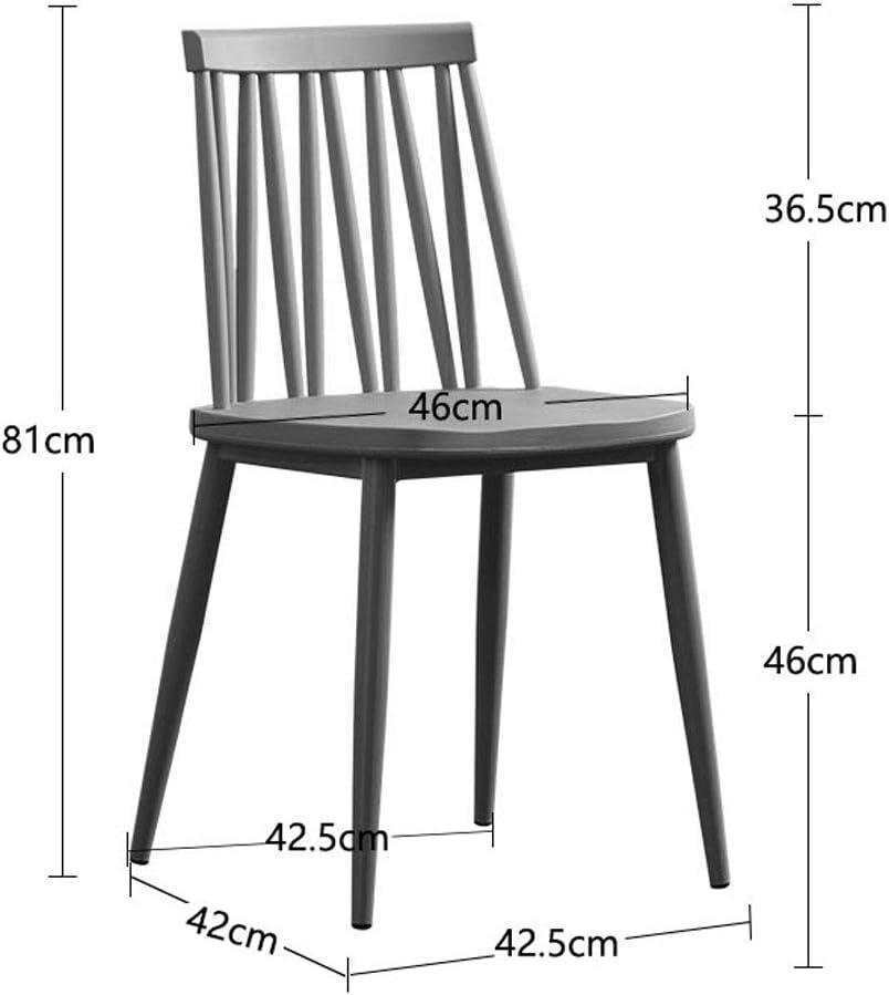 PRIDE S Chaise en plastique de bureau de loisirs de tabouret de dossier de ménage minimaliste moderne de chaise Chaise de salon (Color : B) A