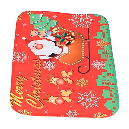 Faceuer Tapis du Père Noël, Tapis de Sol écologique pour Salle de Bain pour la Famille pour Le Bureau pour la décoration de la Maison