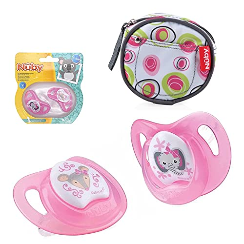 SRV Hub Comfort Ortho Chupetes para bebés recién nacidos, 2 chupetes de bebé, no tóxicos y sin BPA, ideales para bebés de 0 a 6 meses (paquete de 2 chupadores rosados)
