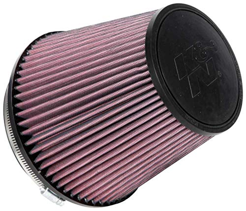 K&N Universal Clamp-On Air Filter: High Performance, Premium, Washable, Replacement Engine Filter: Flange Diameter: 6 In, Filter Height: 6.5 In, Flange Length: 1 In, Shape: Round Tapered, RU-1042