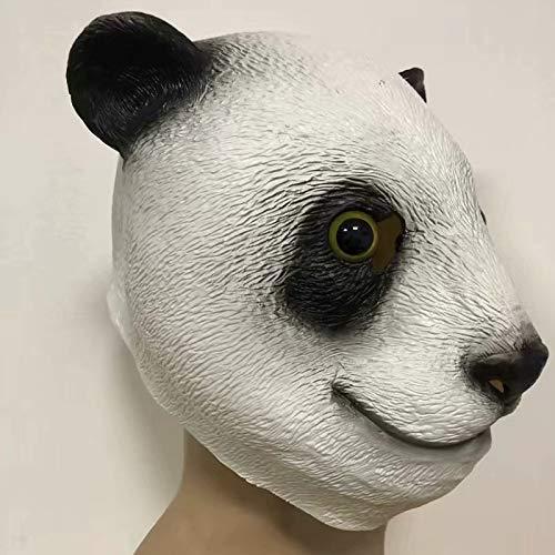 LJZXXK Großer Panda Kung Fu Panda Tiermaske Kopfbedeckung Halloween Cosplay Kostüm Geschenk Geschenk Männchen