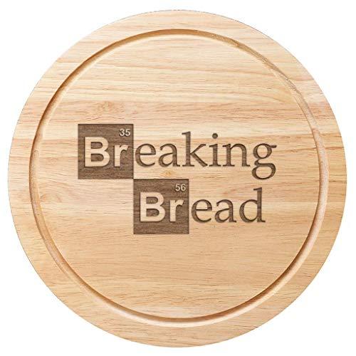 25 cm de diam/ètre produit officiel Breaking Bad Planche /à d/écouper en bois avec inscription Lets Cook