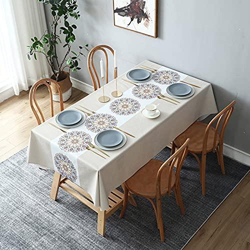 Mantel de PVC, impermeable, a prueba de aceite, mantel libre de lavado, utilizado para cocina, comedor, estera de picnic, uso en interiores y exteriores, decoración de escritorio,Style6,80x120cm