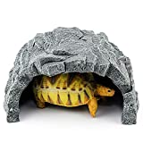 爬虫類 シェルター、ウェットシェルター、亀 隠れ家、ひげ龍生息地の装飾 (XXL)