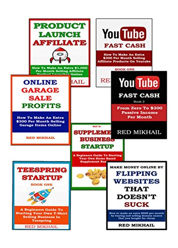 Business in A Box Bundle (7 in 1) (2015): PRODUCT LAUNCH AFFILIATE + YOUTUBE MONEY MAKER 1 & 2 + ONLINE GARAGE SALES + SUPPLEMENT BUSINESS + FLIPPING WEBSITES + T-SHIRT SELLING BUSINESS