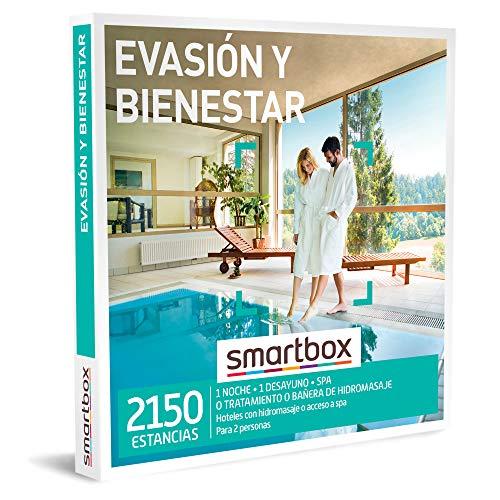 Smartbox - Caja Regalo Amor para Parejas - Evasión y Bienestar - Ideas Regalos Originales - 1 Noche con Desayuno y SPA, bañera de hidromasaje o Tratamiento para 2 Personas