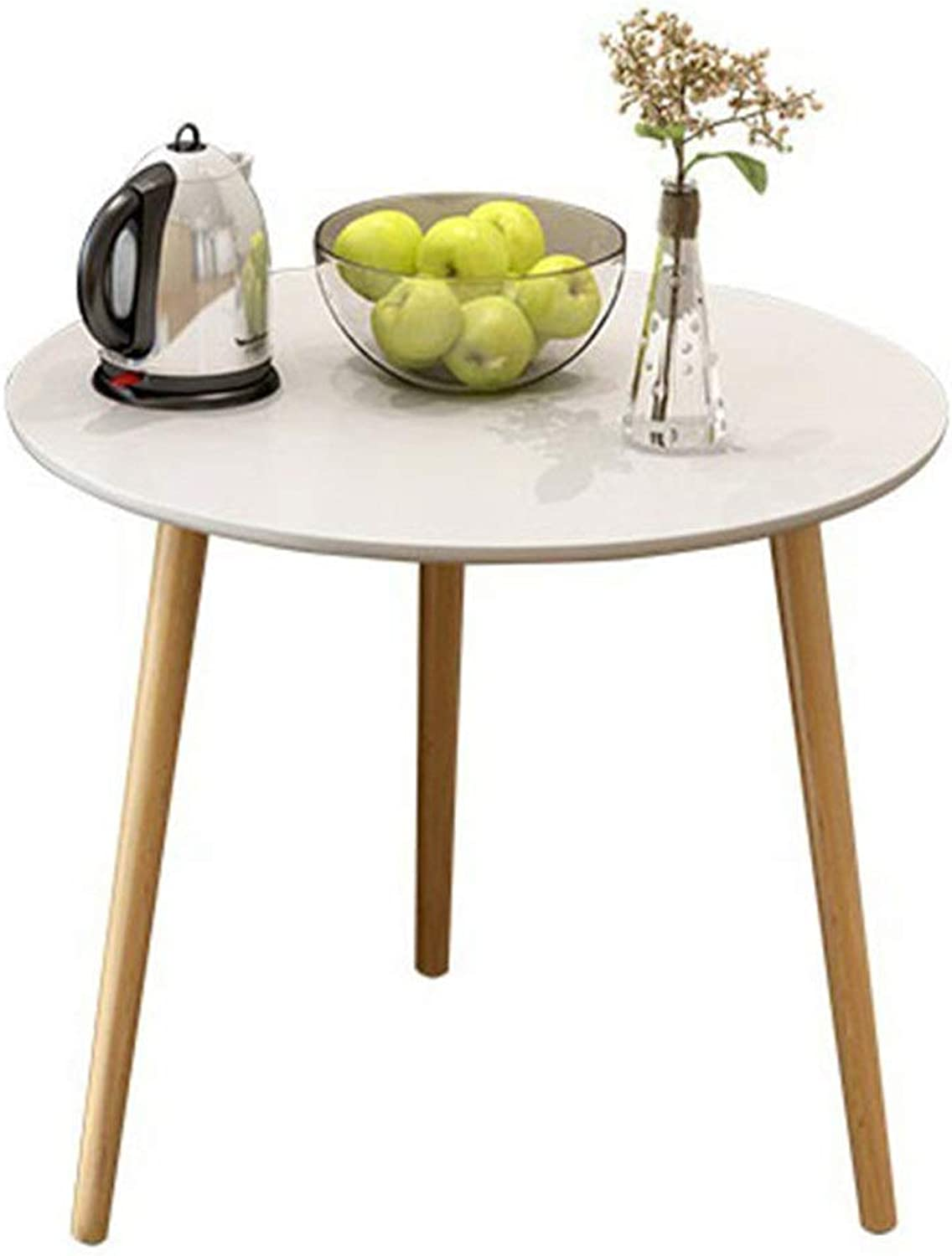 Coffee Table Living Room Balcony Home Multipurpose Modern Tables Oak Table Side Hall Tall Coffee Wine Hallway Furniture Small Table Modern Furniture Decor (Size   Redondo 60  60  50cm)
