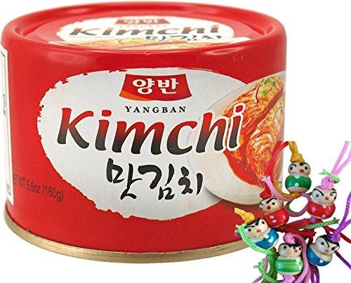DONGWON Kimchi, koreanisch eingelegter Kohl [12x 160g] KIM CHI / Kimchee + ein kleines Glückspüppchen - Holzpüppchen